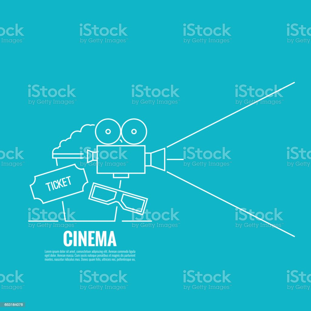 Abstract background with popcorn. vector art illustration
