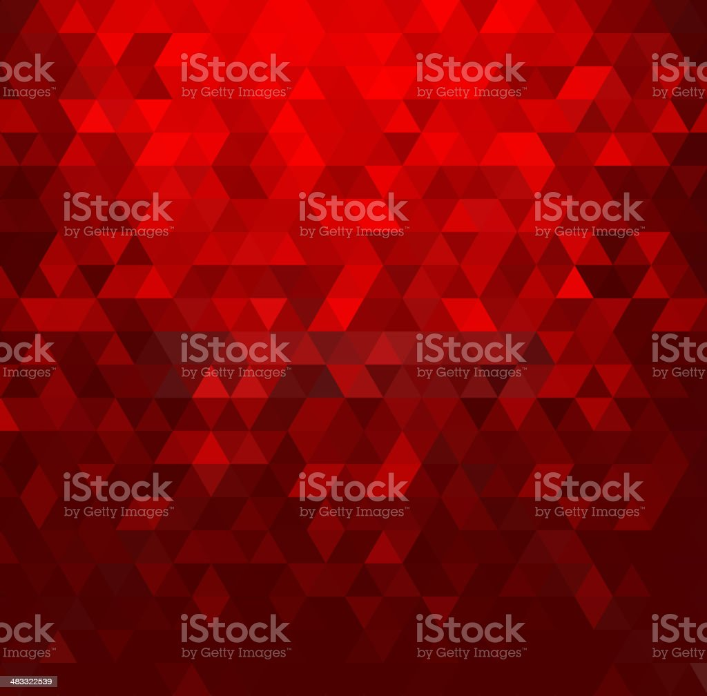 Abstract background with red crystals vector art illustration