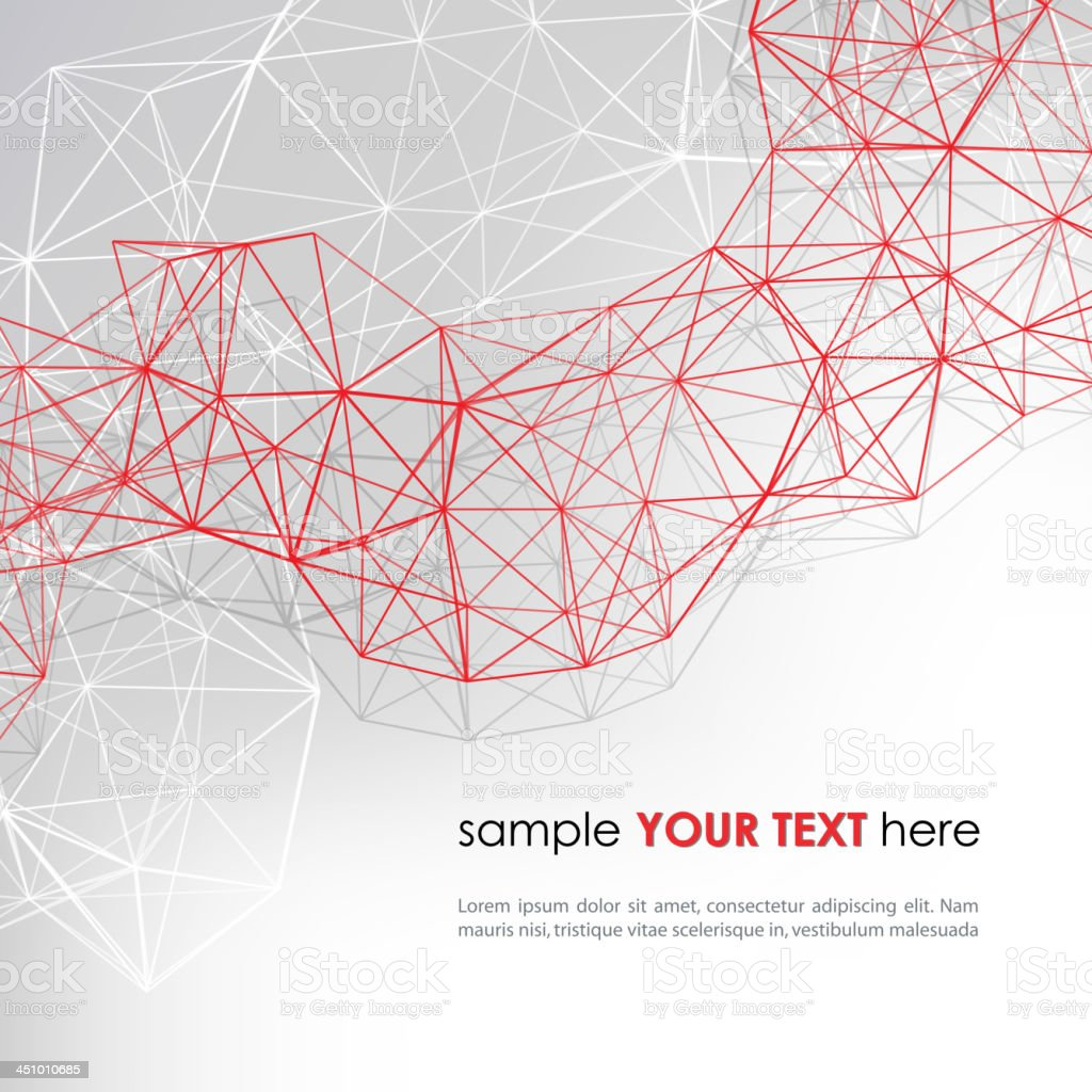 Abstract background with red diagonal lines vector art illustration