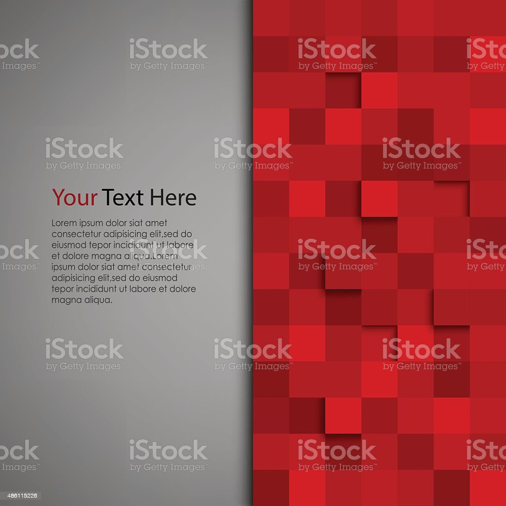 Abstract background with red square vector art illustration
