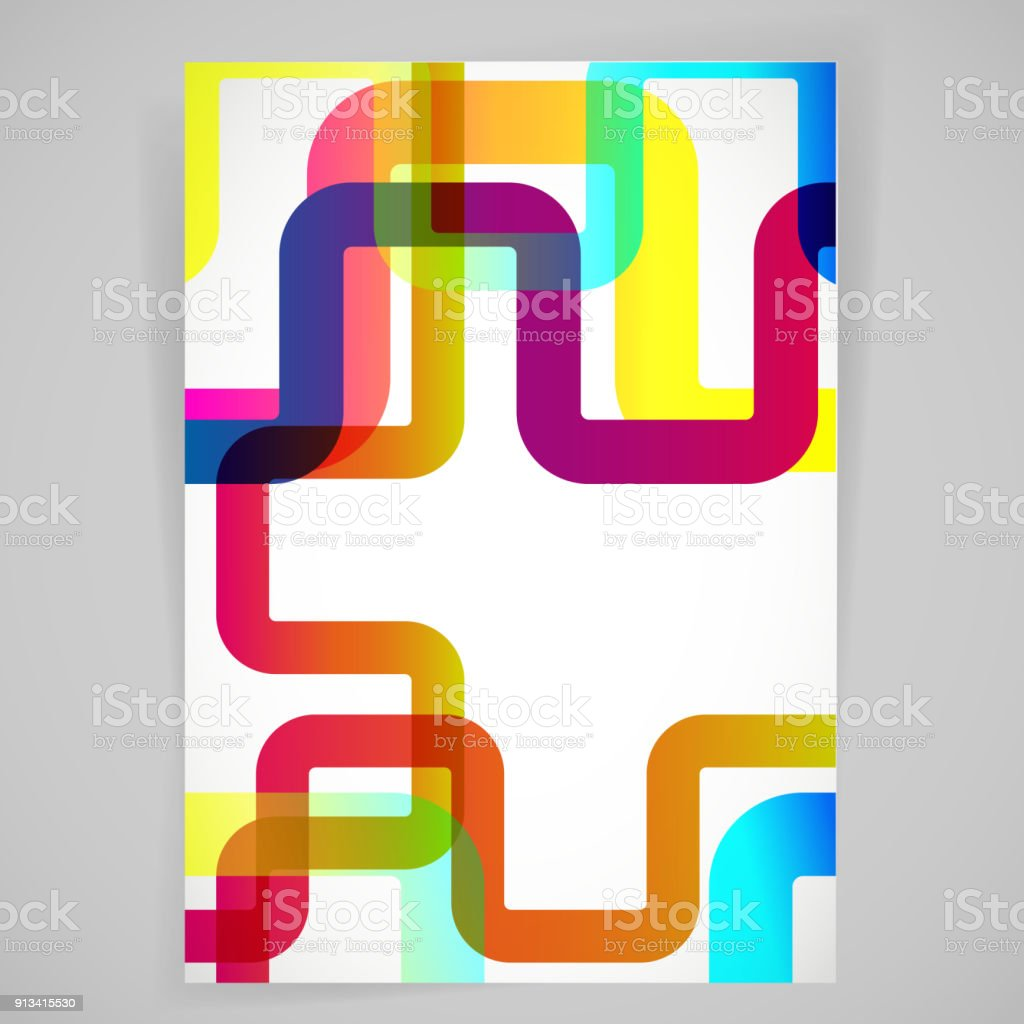 Abstract background with rounded design elements. vector art illustration