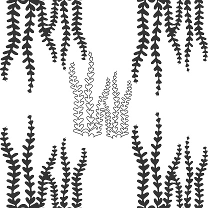 abstract background with seaweed vector stock illustration