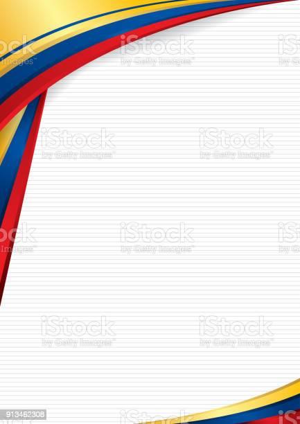 Ilustración De Fondo Abstracto Con Formas Con Los Colores De La Bandera De Ecuador Colombia Y