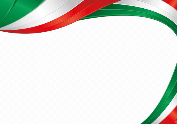 Abstract background with shapes with the colors of the flag of Mexico or Italy to use as Diploma or Certificate Abstract background with wave shapes with the green, white, red colors of the flag of Mexico or Italy to use as Diploma or Certificate alejomiranda stock illustrations