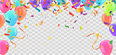 istock Abstract Background with Shining Colorful Balloons. Birthday, Party, Presentation 1209017718