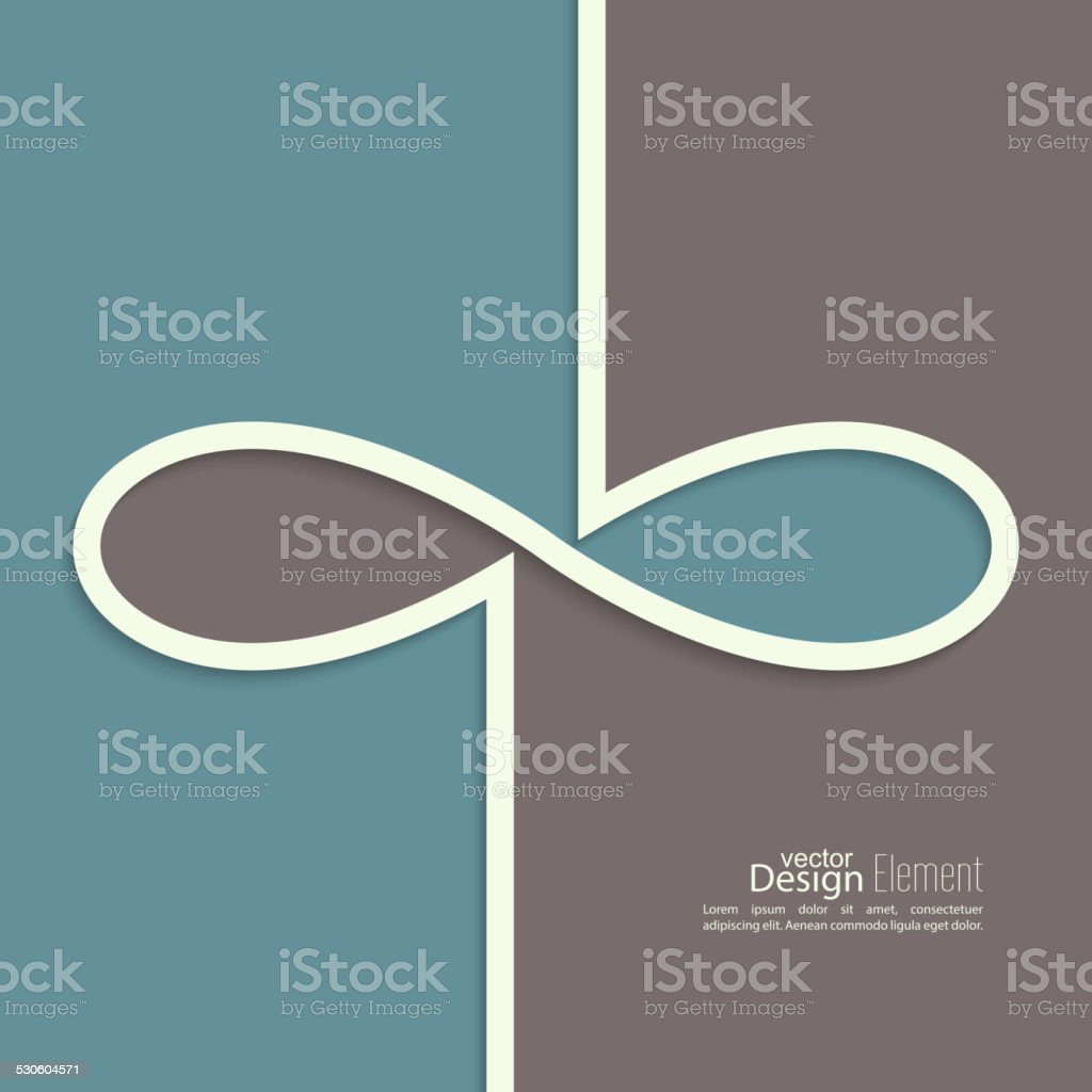 Abstract background with the sign of infinity vector art illustration
