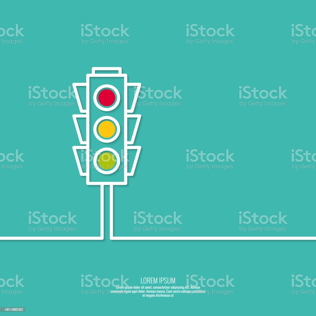Abstract background with traffic lights vector art illustration