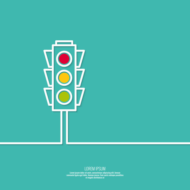 abstract background with traffic lights - stoplights stock illustrations, clip art, cartoons, & icons