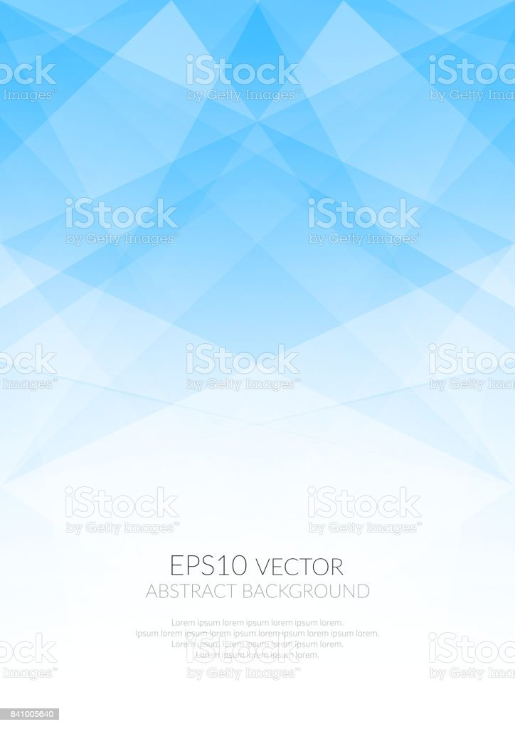 Abstract background with translucent geometric shapes. Shades of colors. vector art illustration