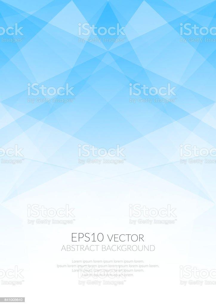 Abstract background with translucent geometric shapes. Shades of colors. - ilustração de arte vetorial