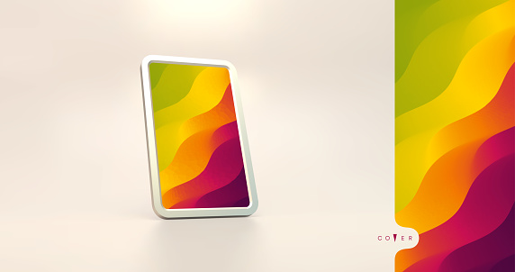 Abstract background with trendy gradients. Vector illustration for mobile phone cover and screen.