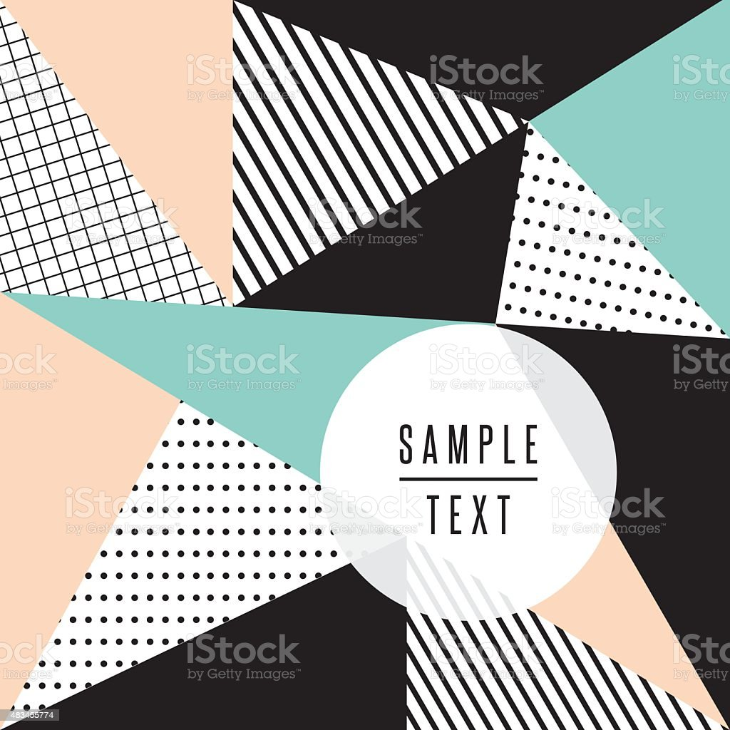Abstract background with triangles vector art illustration