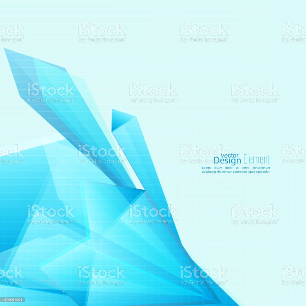 Abstract background with triangles. vector art illustration