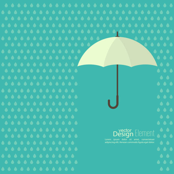 abstract background with  umbrella - rain stock illustrations, clip art, cartoons, & icons
