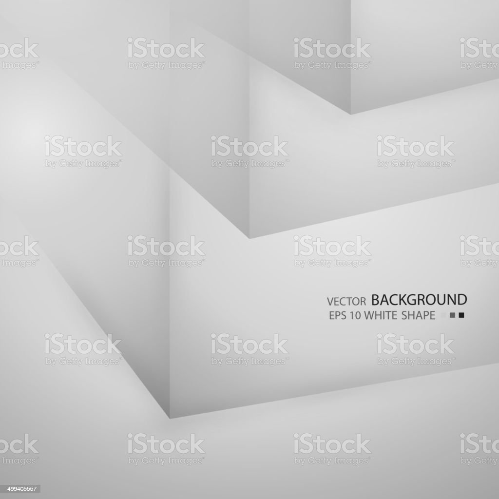 Abstract background with volumetric figures. Free blank faces. royalty-free stock vector art