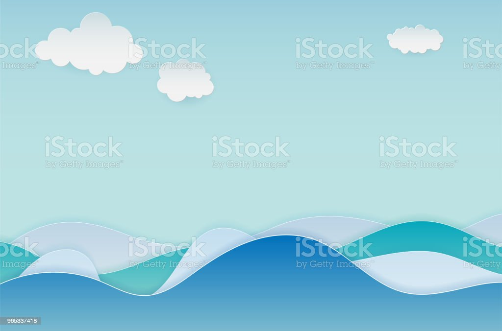 Abstract background with water waves and clouds royalty-free abstract background with water waves and clouds stock vector art & more images of abstract