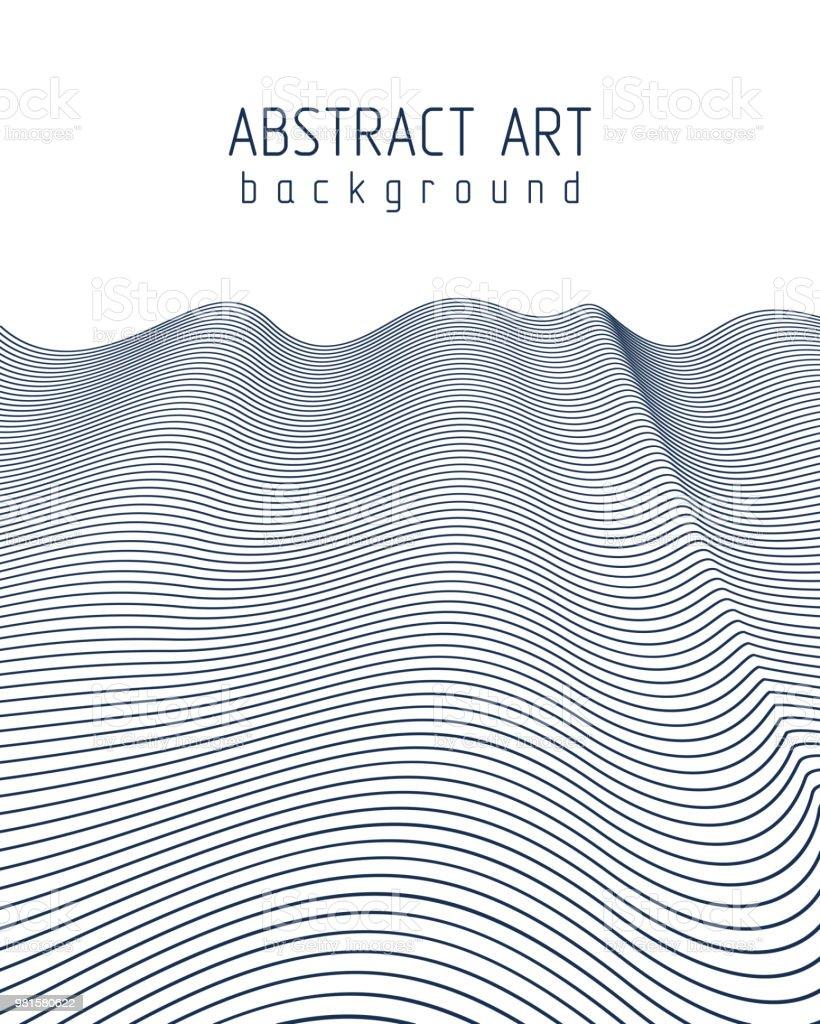 Zusammenfassung Hintergrund Mit Wellenlinien Muster Lineare