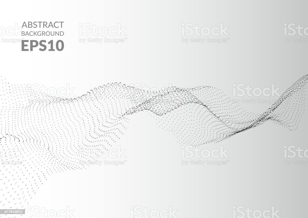 Abstract background with wavy texture. Distortion of space. - Royalty-free Abstract stock vector