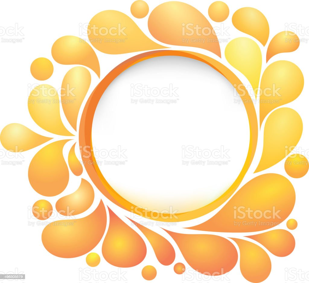 Abstract background with yellow drops. eps10 royalty-free stock vector art