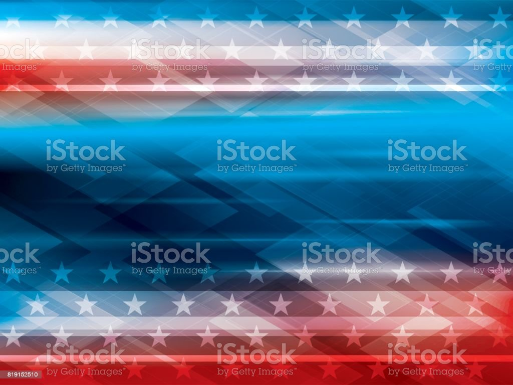 Abstract backgrounds Independence USA Blue and red backgrounds with stars pattern and shine of lights. Abstract vector background in celebration of the Independence of the USA on July 4, 1776. Abstract stock vector