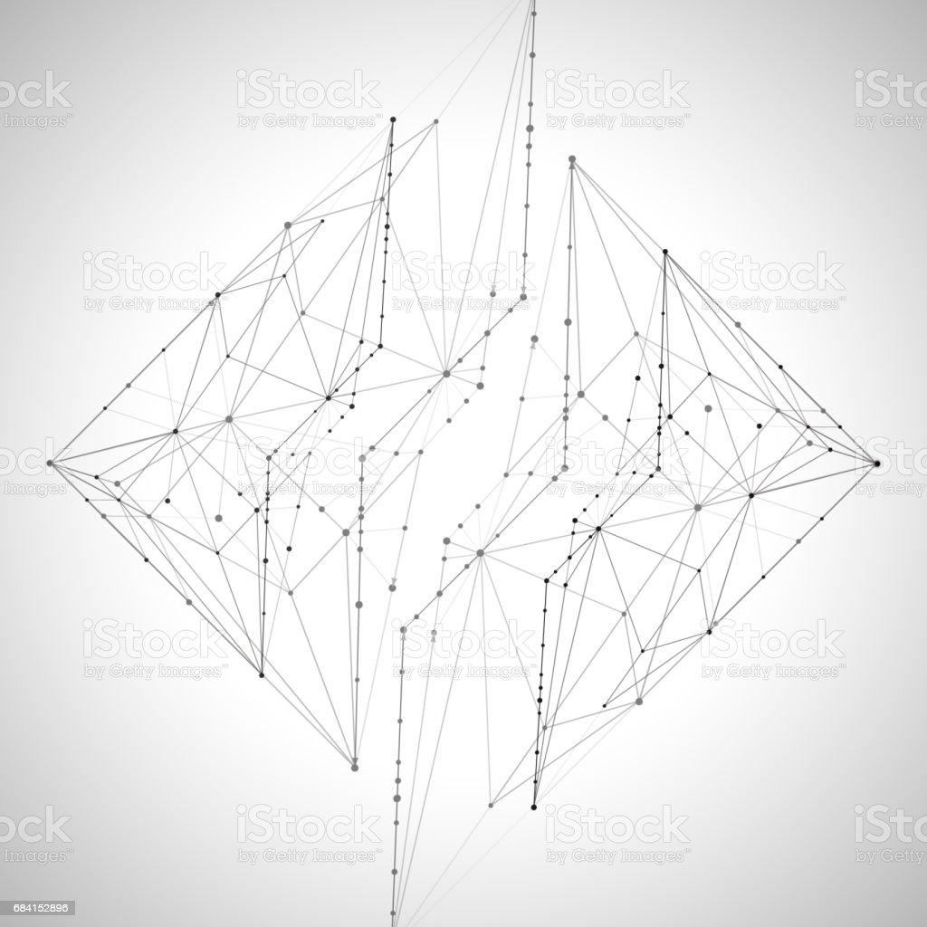 Abstract backgrounds of molecules light gray lines abstract backgrounds of molecules light gray lines - immagini vettoriali stock e altre immagini di astratto royalty-free