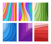 Vector illustration of a set of abstract backgrounds