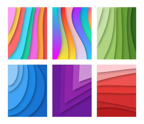 abstrakt - landscape crazy stock-grafiken, -clipart, -cartoons und -symbole
