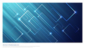 Abstract blue backgrounds with square glowing share