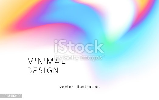 istock abstract backgrounds with vibrant gradient shapes. Design template for covers and posters 1243490422
