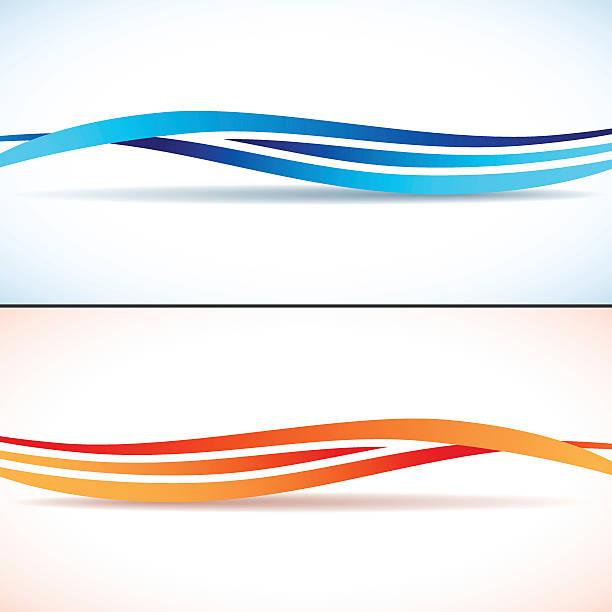 Abstrakt Hintergrund mit Wellen – Vektorgrafik