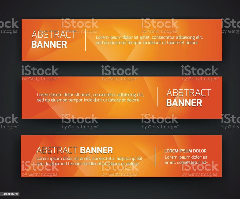 banner abstrato design - ilustração de arte em vetor