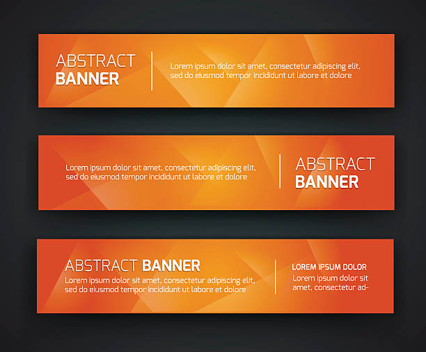 abstract banner design - orange color stock illustrations