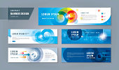 Abstract banner design web template Set, Horizontal header web banner. Modern Target cover header background for website design, Social Media Cover ads banner, social networks, Path to the goal, Concept growth to success, Reach the target,