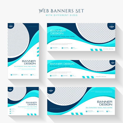 Abstract banner design web template
