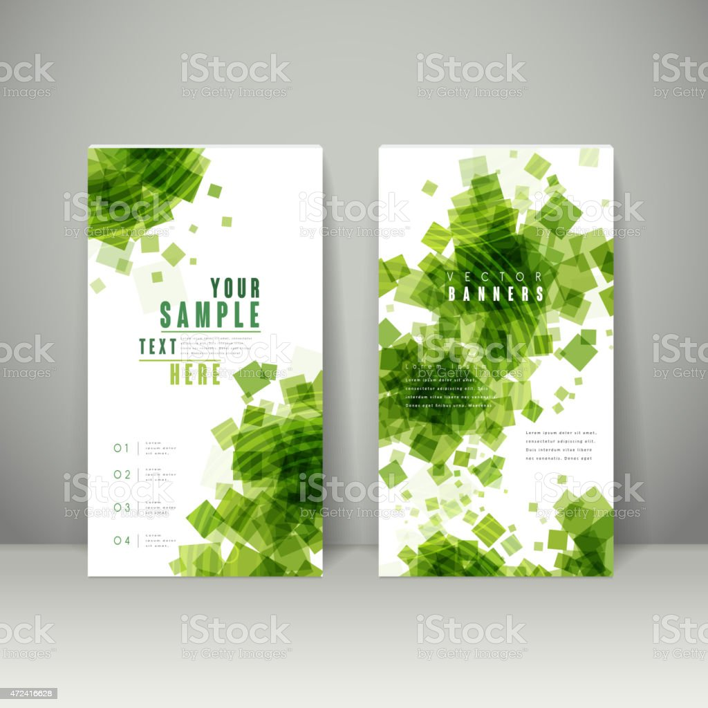abstract banner template design vector art illustration