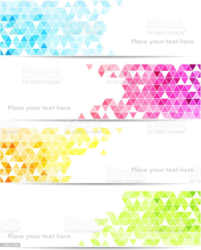 Abstract banner vector art illustration
