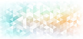 Abstract banner web geometric hexagon pattern light blue orange background with space for your text. Vector illustration