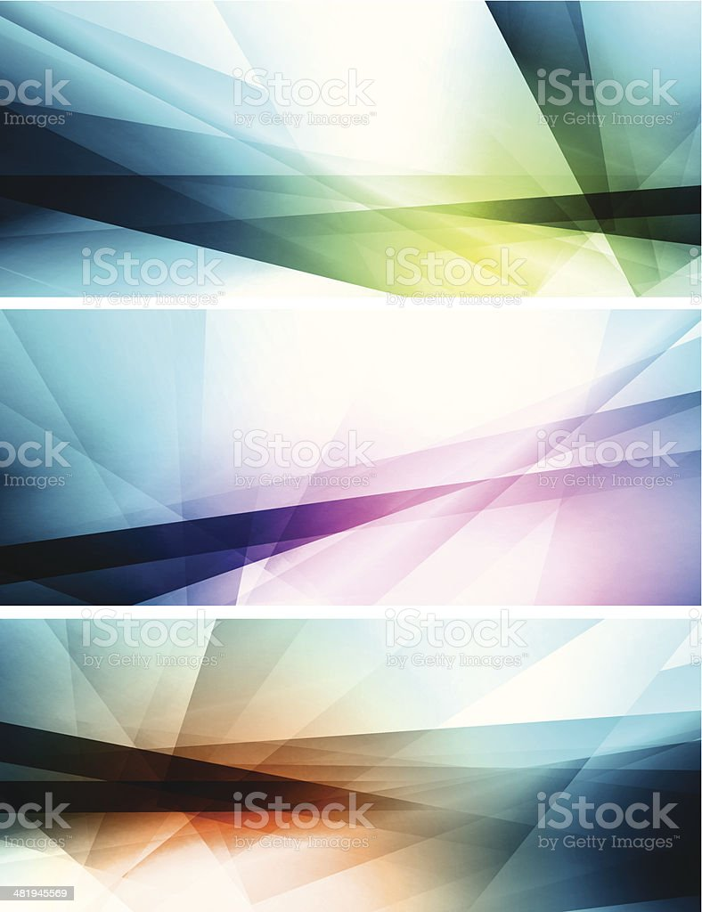 Abstract banners royalty-free stock vector art