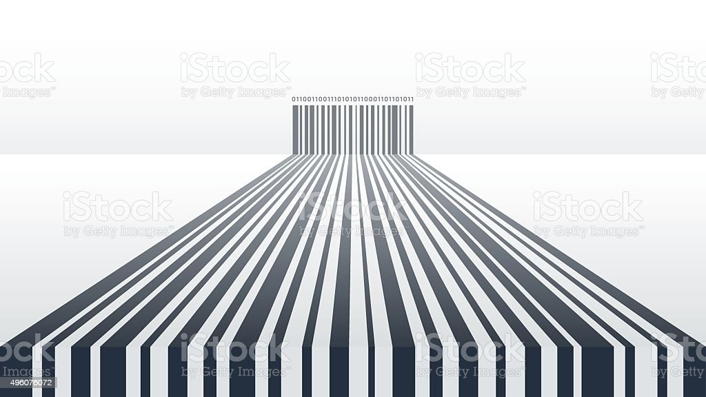 Abstract Barcode Background vector art illustration