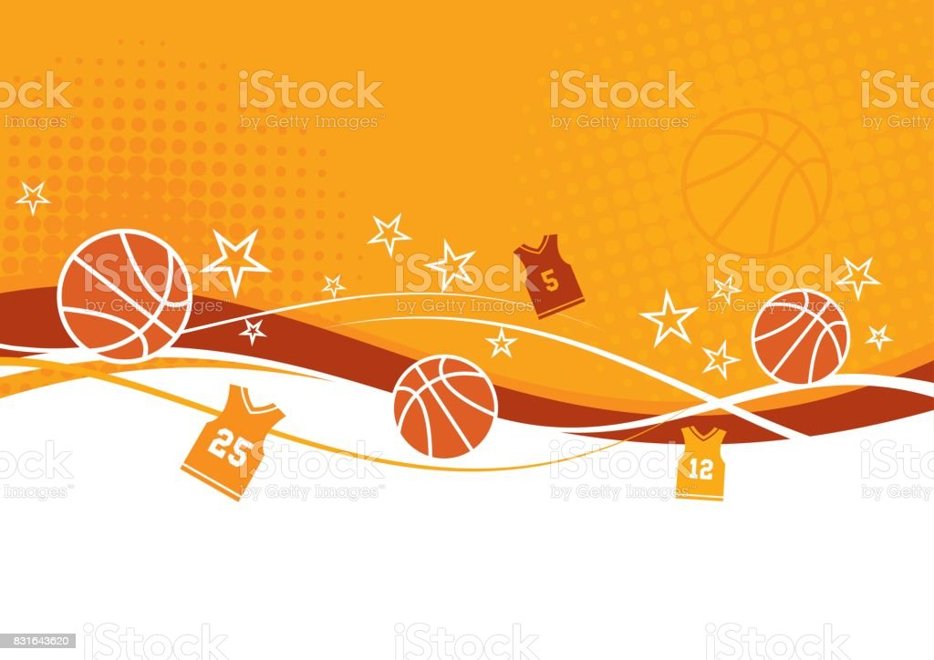 Abstract Basketball Background vector art illustration