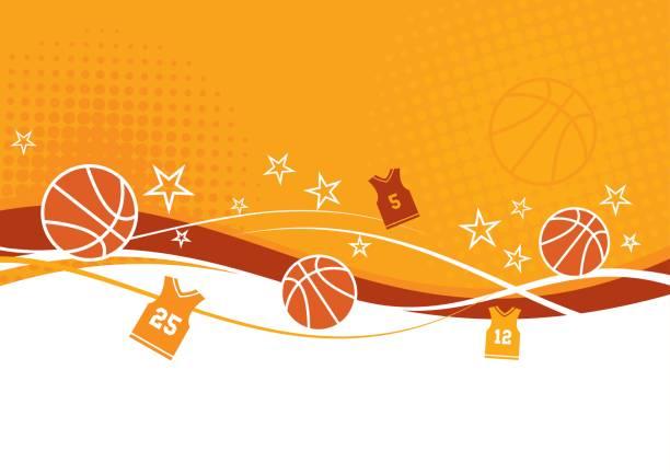 Abstract Basketball Background vector art illustration