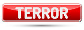 TERROR - Abstract beautiful button with text.