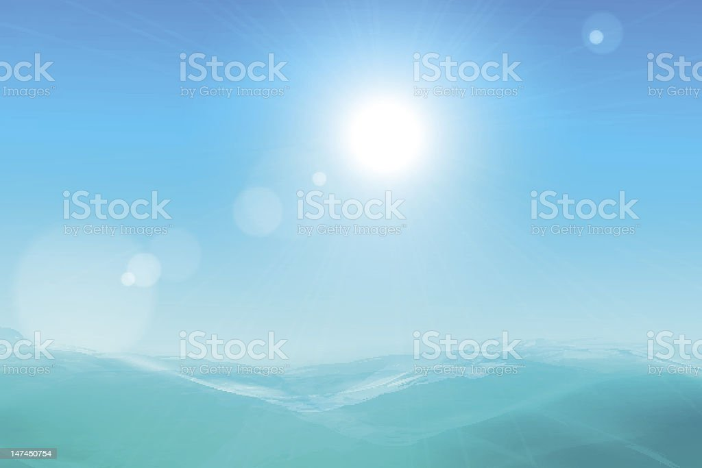 Abstract beautiful sea and sky background royalty-free stock vector art