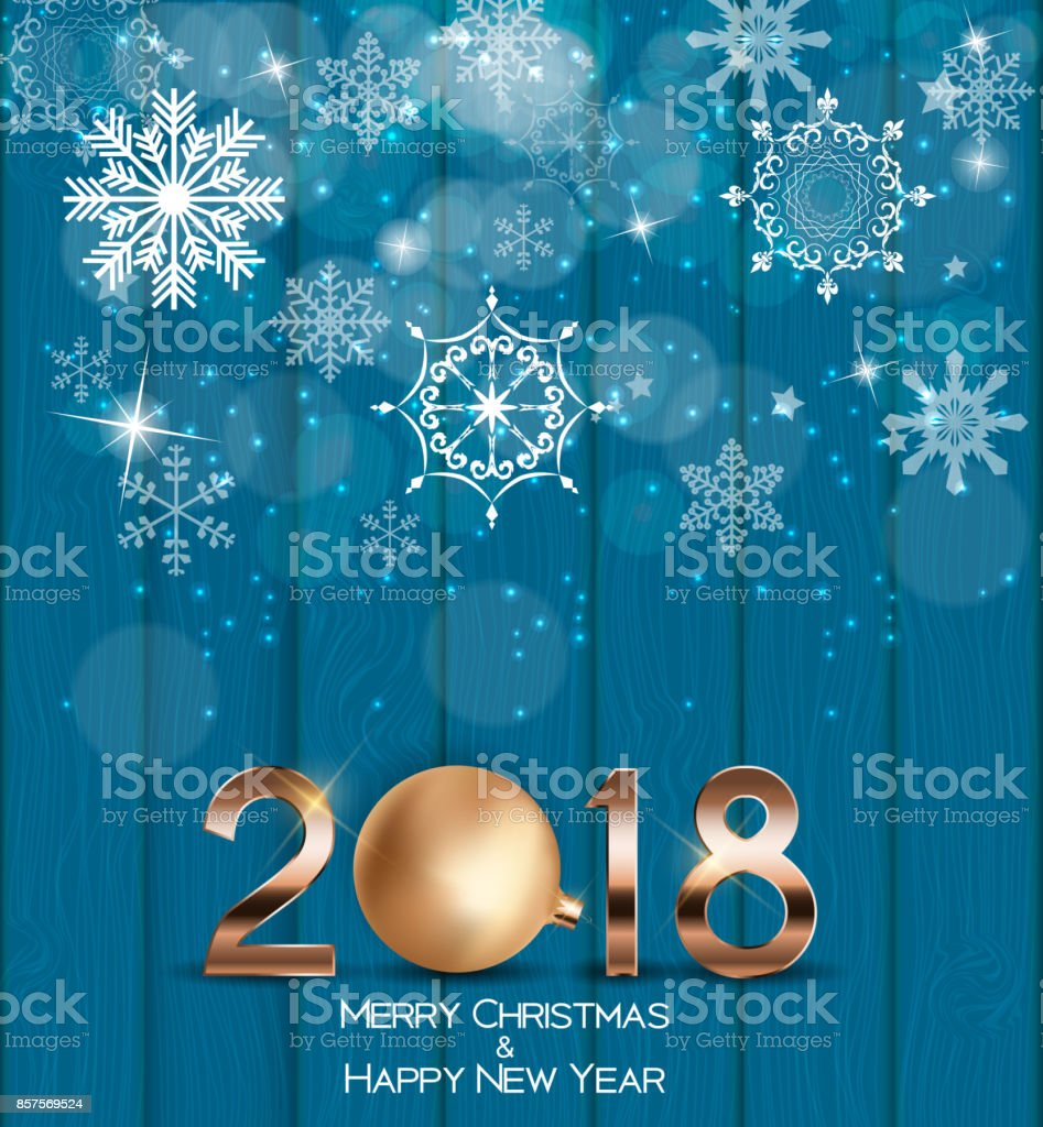 abstract beauty christmas and 2018 new year background vector illustration royalty free abstract beauty
