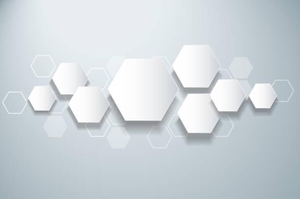 illustrazioni stock, clip art, cartoni animati e icone di tendenza di abstract bee hive hexagon and space background - favo