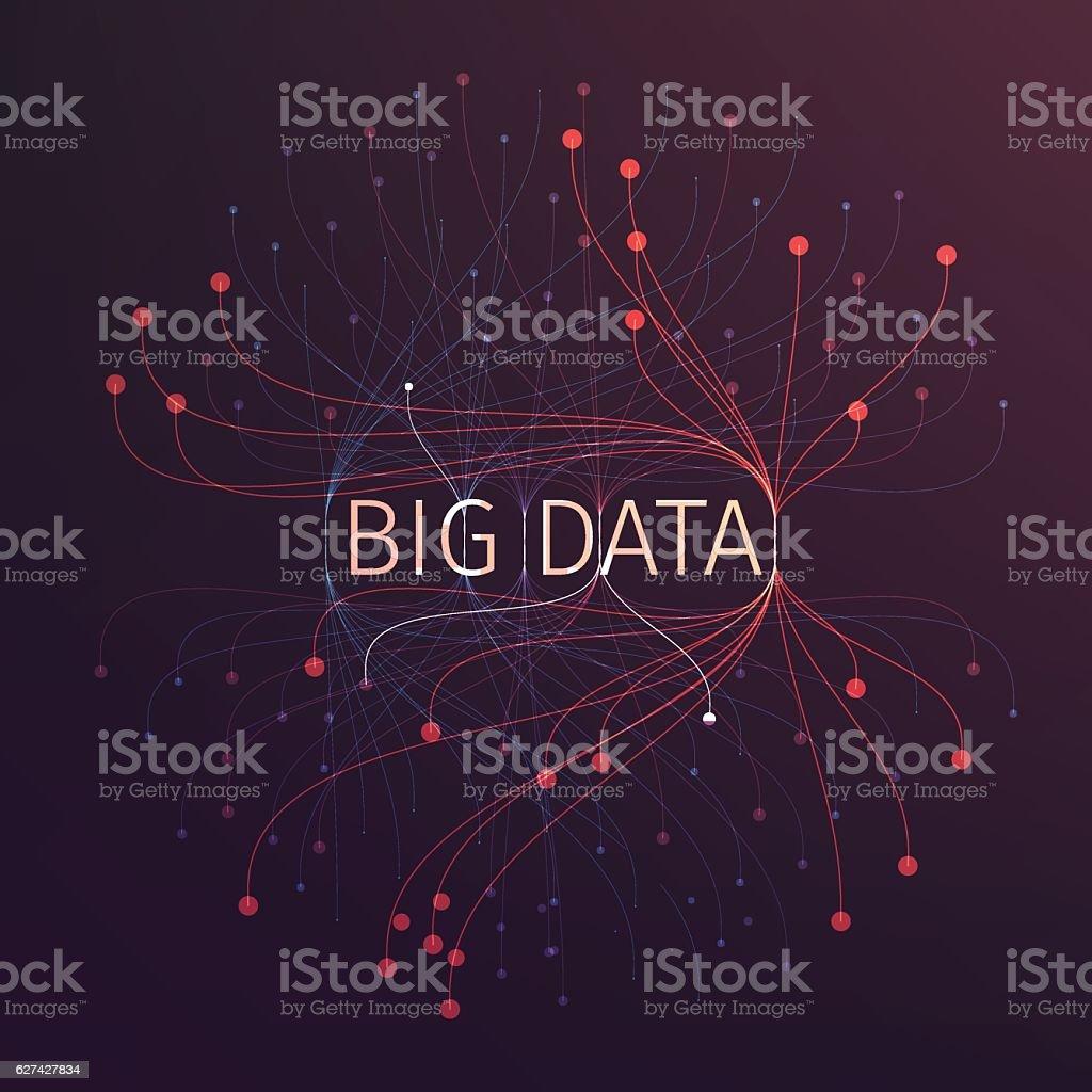 Abstract big data illustration. Analysis of information – Vektorgrafik