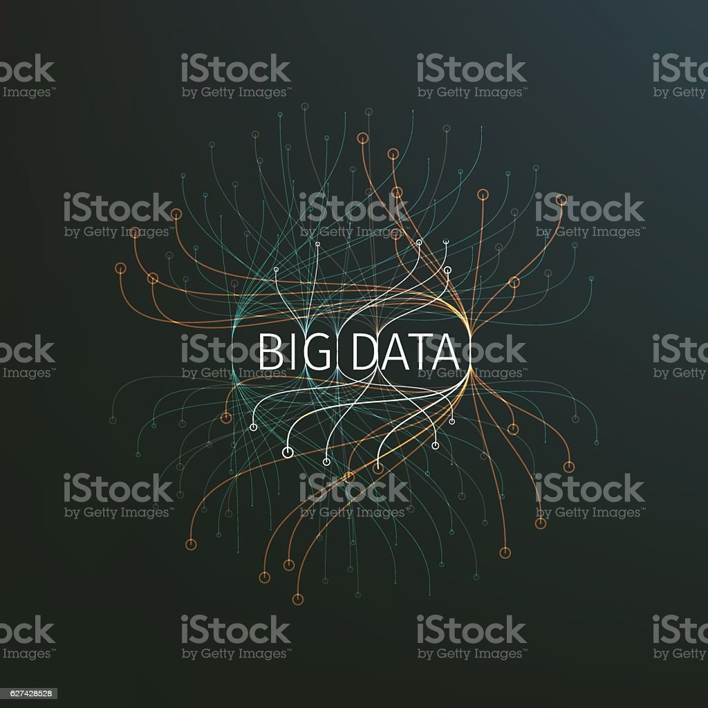 Abstract big data illustration. Information streams - Illustration vectorielle