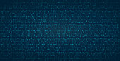 istock Abstract binary background for hackathon and other digital events. Fallen zero numbers with matrix effect on futuristic background. 1194847059