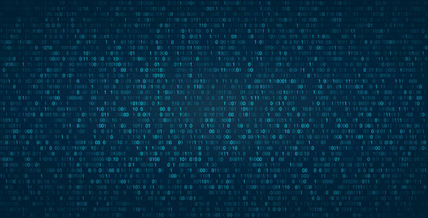 Abstract binary background for hackathon and other digital events. Fallen zero numbers with matrix effect on futuristic background. Abstract binary background for hackathon and other digital events. Fallen zero numbers with matrix effect on futuristic background. Vector wallpaper template. binary code stock illustrations