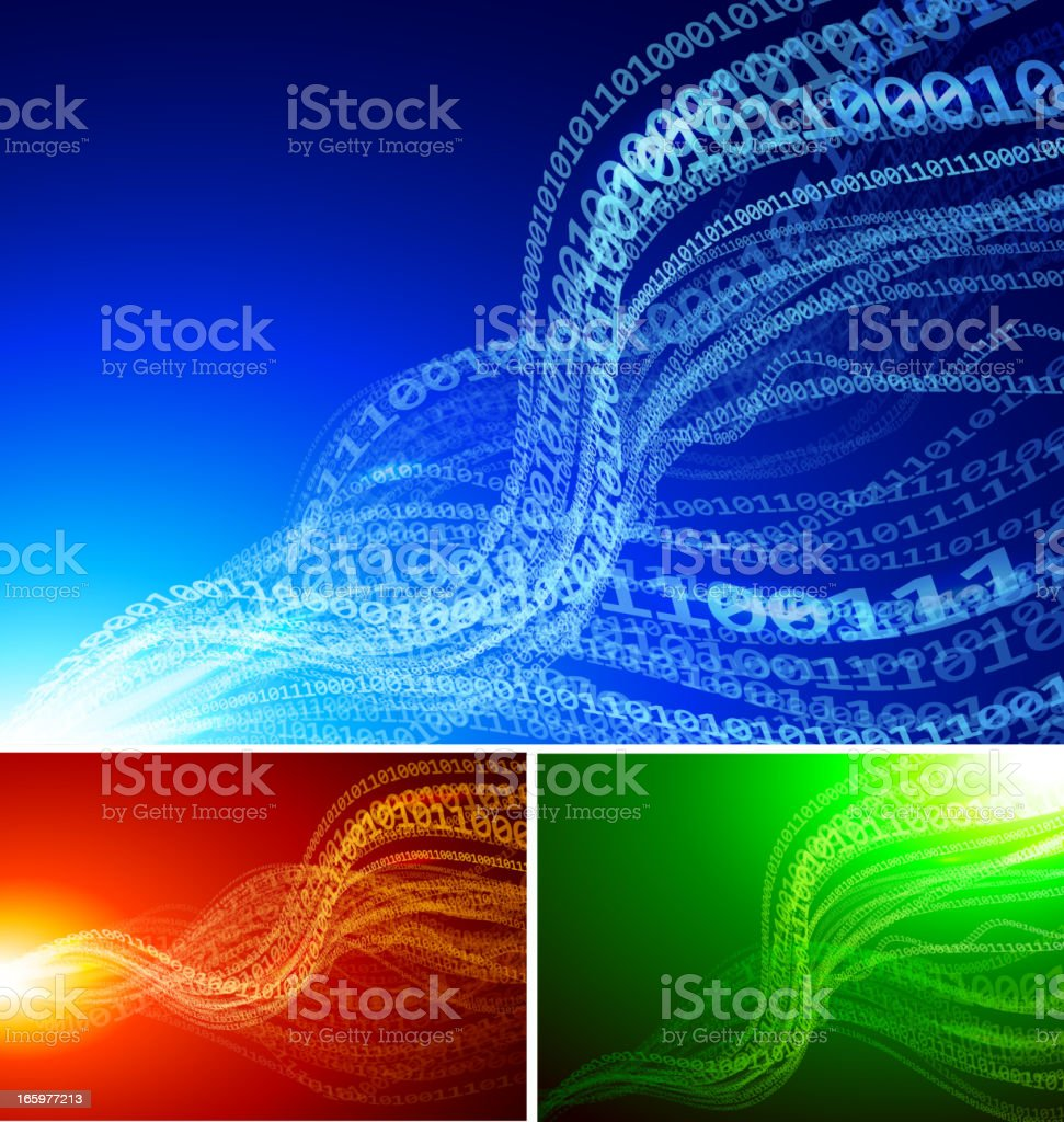 Abstract binary backgrounds vector art illustration